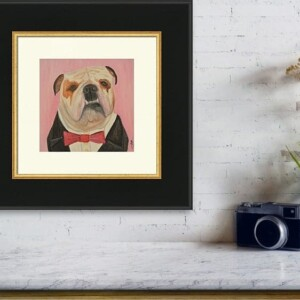 Winston Goes To a Party, Oil Painting, Anita Louise Art