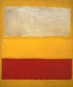 No 13, white, red on yellow by Mark Rothko (1958)