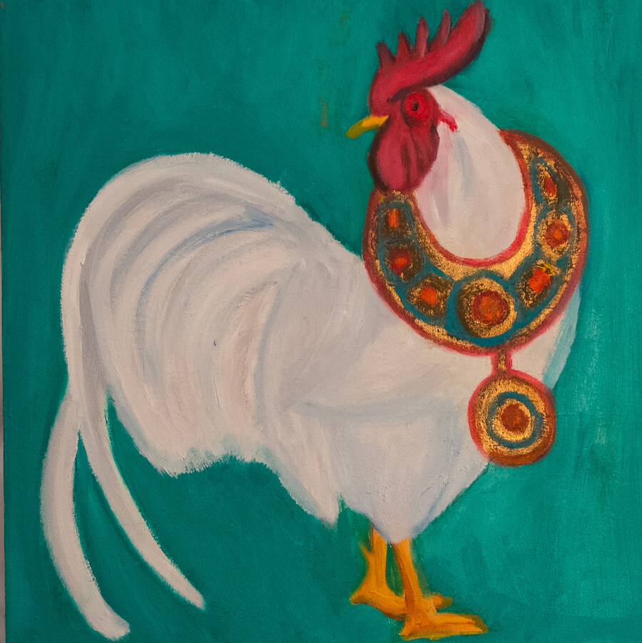 The Rooster and The African Necklace, By Anita Louise Hummel