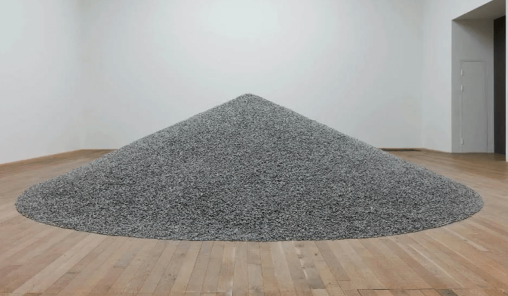 A pile of porcelain sunflower seeds by Ai Wei Wei
